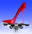 abstract image of red shoe vector image vector image