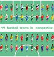 Soccer Club Team Players Big Set vector image