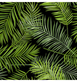 Seamless Tropical Palm Leaves Background vector image