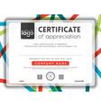 Modern certificate background frame design templat vector image