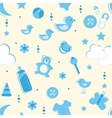 Baby boy seamless vector image