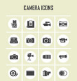 camera and video icons set eps 10 vector image