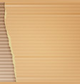 corrugated cardboard background realistic vector image