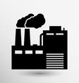 factory icon button logo symbol concept vector image