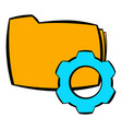 folder with gear wheel icon cartoon vector image