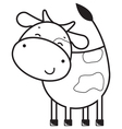 Funny outline cow vector image
