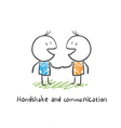 Handshake and communication vector image