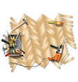 Housing Repair Frame with Toolbox vector image