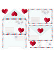 valentine letter flat icon vector image