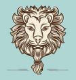 vintage hand drawn lion print design vector image