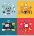business workflow design concept vector image