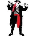 Angry pirate silhouette vector image vector image