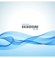 Abstract blue wave isolated on white background vector image