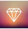 Diamond thin line icon vector image