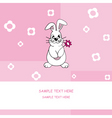 rabbit with a flower vector image vector image