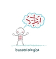 bacteriologist thinks about germs vector image