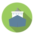 Big ship icon flat style vector image