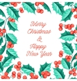 Christmas mistletoe holiday card with text vector image