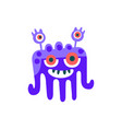 cute blue cartoon monster fabulous incredible vector image