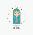 elf princess fantastic character and colorful vector image