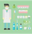 flat health care dentist symbols research medical vector image