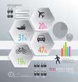infographic transportion background vector image