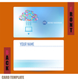 Modern Template computer idea with social network vector image
