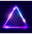 Neon sign Triangle background vector image