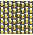 Seamless pattern orange beer mug on a brown vector image