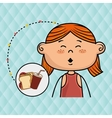 girl fast food vector image