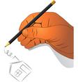 hand activities vector image vector image
