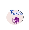 Thank you card with font flower vector image