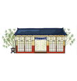an asian house vector image vector image