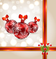 Celebration background with Christmas balls and vector image vector image