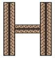 Rimsko H resize vector image