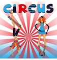 Two thin circus girls vector image