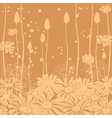 floral background monochrome vector image vector image