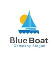 Blue Boat Design vector image