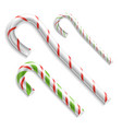 candy cane christmas candy cane realistic vector image