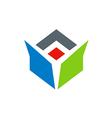 drop box abstract color logo vector image