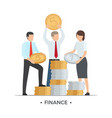 finance people with coins vector image