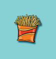 french fries fast food vector image