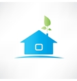 House with the plant vector image