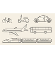 Line graphics set of different personal and public vector image