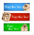 New year celebration banner or header set vector image