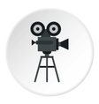 Retro film camera icon flat style vector image