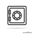 strongbox outline icon black color vector image