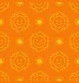 sun pattern seamless hand drawn yellow sunshine vector image