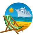 tropical beach icon vector image