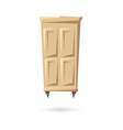 Wardrobe isolated on a white backgrounds vector image